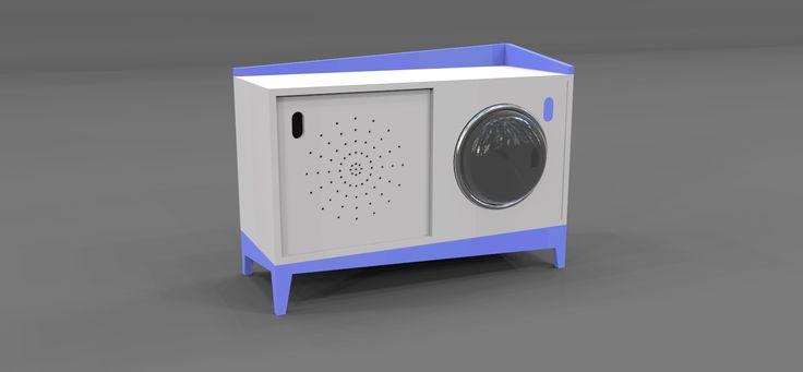 Ojko è una madia in metallo verniciato con due ante scorrevoli di cui una caratterizzata da una semisfera di materiale trasparente (Plastica o Vetro). Estremamente versatile e personalizzabile nei colori, per le sue dimensioni contenute Ojko si colloca dall'ingresso al living rispondendo alle esigenze contemporanee di flessibilità e adattamento agli spazi in cui viviamo.  Dimensioni : 100x50x73h.
