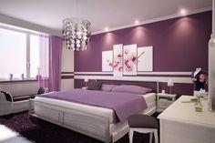 dormitorios modernos en color morado