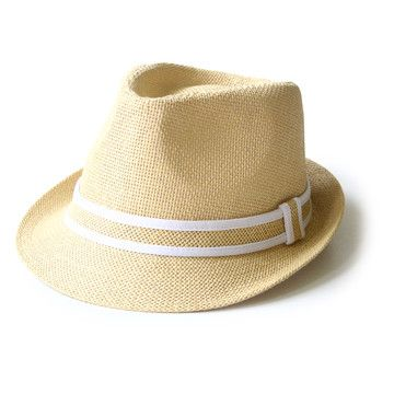 Stylish Men's Hat made from natural straw - this would be perfect for a guy to wear on the beach!