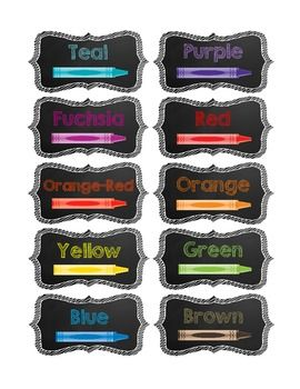 Crayon and Marker Drawer Labels & Organization {FREE LABELS}