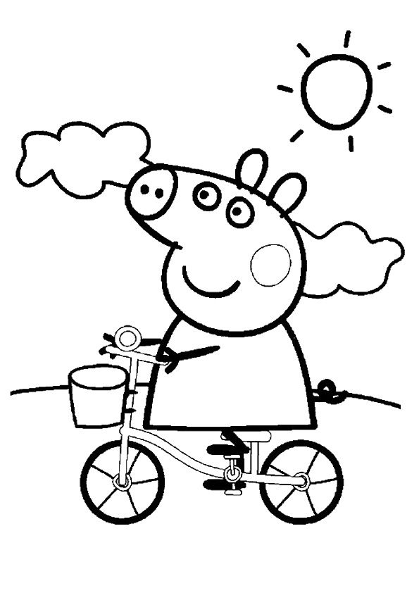 peppa pig coloring pages birthday balloon | 41 best Peppa pig images on Pinterest | Coloring sheets ...