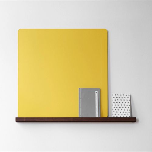 Lintex - Mood Ledge - moffice.dk. #design #opslagstavle #glastavle #tavle #gul #kontor #indretning