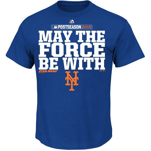 New York Mets 2015 Postseason Star Wars May The Force Be With T-Shirt - MLB.com Shop