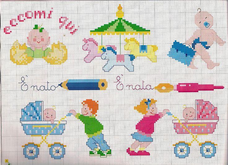 Oltre 25 fantastiche idee su corredino per bambini su for Ricami punto croce neonati
