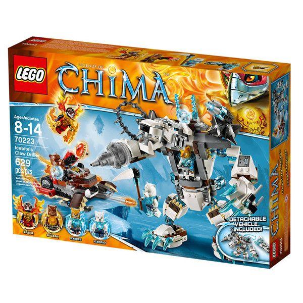 Icebites klo-robot fra Lego Chima. Lego Chima er en spændende action- og kampserie fra Legotil drenge i alderen 7-14 år, som handler om et uberørt paradis, hv