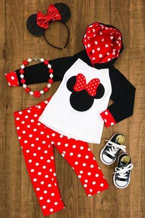 Minnie Mouse Polka Dot Hoodie pantalones conjunto