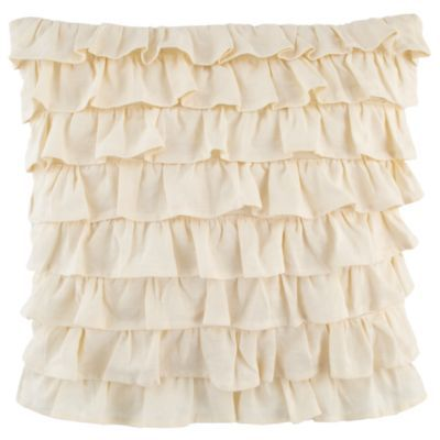 Petit Château Throw Pillow (French Ruffle): Pillows French, Ruffles Throw, Girls Throw, French Ruffles, Baby Girls, Throw Pillows, Cream Ruffles, Land Of Nod, Girls Rooms