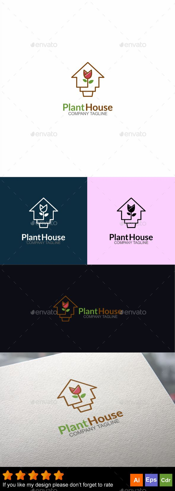 Plant House — Vector EPS #market #flower • Available here → https://graphicriver.net/item/plant-house/18146813?ref=pxcr