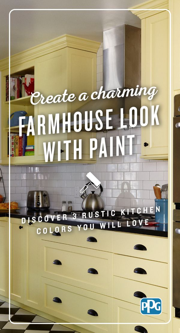 Explore three rustic kitchen colors selected by PPG color experts to ...