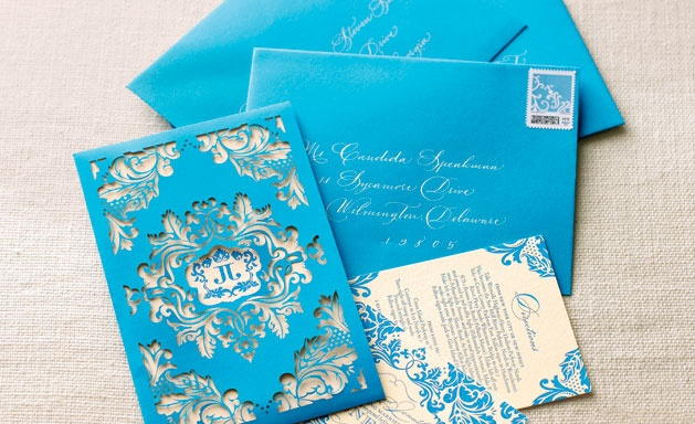 Letterpress invite with laser-cut sleeve, Atelier Isabey (Photo by Philip Ficks)