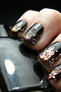 black and glitter, yesss