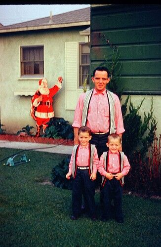 Dad put up the Outdoor Christmas decorations in about 12 seconds that year....then sold my twin brothers, Ronnie & Dick, at the Yard Sale so he had money to buy Mom that Crockpot she wanted so freakin' badly!