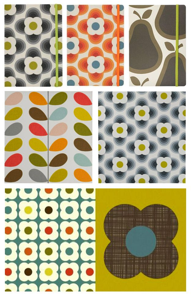 Orla kiely: always uses flora and Fauna as pattern inspiration, intuitive unusual use of colour combinations. Keep it in mind for choosing the colour palette for the park literature/signage.