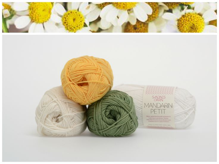 Inspirert av blomster, Mandarin Petit. 1002, 1012, 2315, 8543. #farger #fargekombinasjon #inspirasjon #blomster #garn