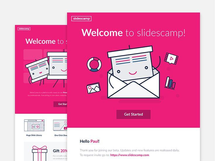 Slidescamp mailing #magdagogo #illustration #design #vector #design