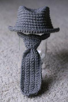 Free Crochet Pattern Baby Fedora