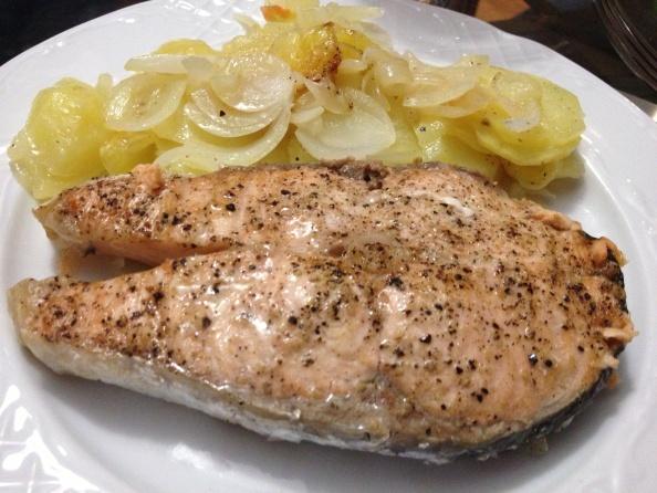Salmón al Vapor con Patatas (Lékué) | Thermo-Miss