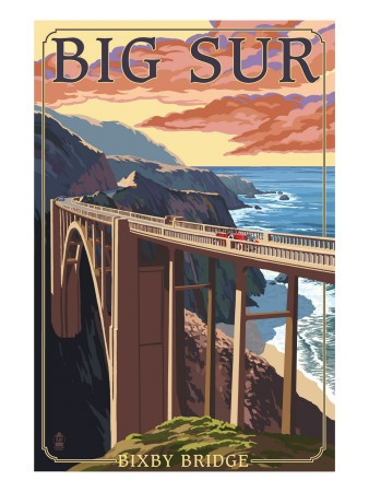 See the post card in person.. Big Sur, just one hour south of Carmel.