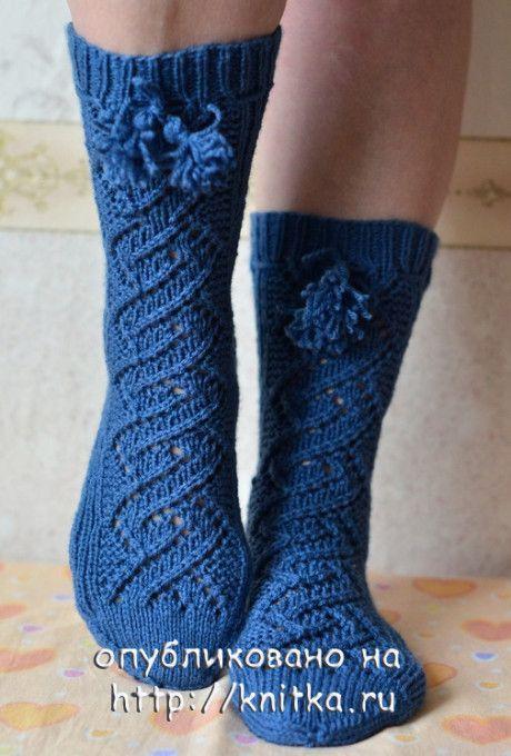 вязаные носки спицами фото