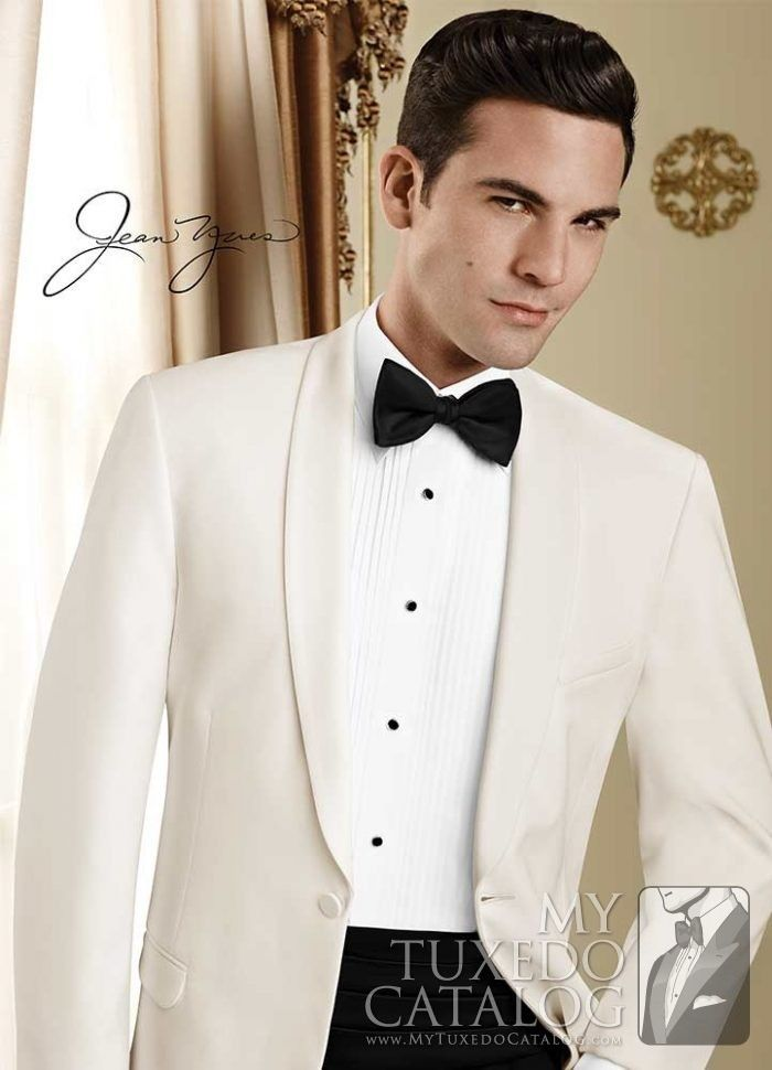 """<h5 style=""""text-align: center;"""">Estimated Availability - Late April, 2017</h5> <p style=""""text-align: left;"""">The Ivory 'Modern Essential' Dinner Jacket by Jean Yves is an updated incarnation of the basic dinner jacket, perfect for any formal occasion. Featuring a one button, single-breasted front closure, self shawl lapels, self flap pockets, and fashioned from polyester in a modern cut for a trimmer and updated silhouette, this din..."""