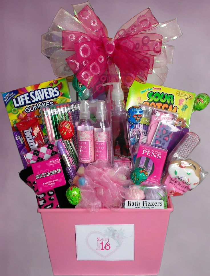 Sweet 16 basket/ Quinceanera gift basket! Becoming a teenager is a special time in a girls life. Celebrate with this awesome basket!