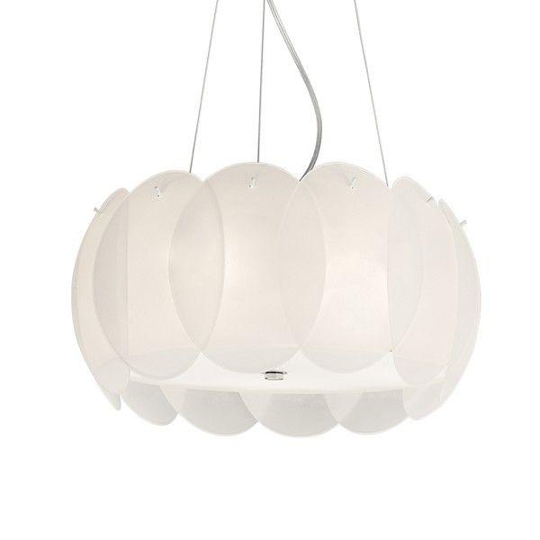 Závesné svietidlo Evergreen Lights Leaves White, ⌀ 44 cm