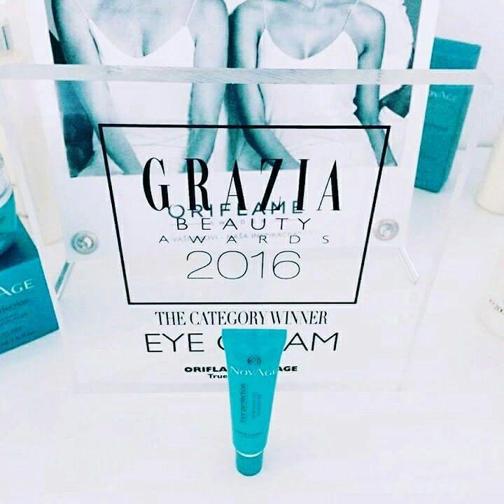 ORIFLAMENIEUWS  De NovAge True Perfection Eye Cream heeft in Servie de Grazia Beauty Award gewonnen in de categorie huidverzorging - ogen. Oriflame streed in deze categorie tegen oogverzorgingsproducten van Estee Lauder en Shiseido.  Een vakjury koos 280 vooraanstaande producten in 20 categorieën. Daarna mocht de consument haar oordeel geven.  Ook in de in de categorieën douchegel (Swedish Spa Stimulating Shower Gel), nagellak (the ONE Long Wear Nail Polish), lippenbalsem (the ONE Plumbing…
