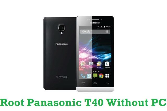 Find out the tutorial with step by step instructions to Root Panasonic T40 Android smartphone without computer and using a one-click rooting software!