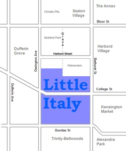 Map of Little Italy - Toronto