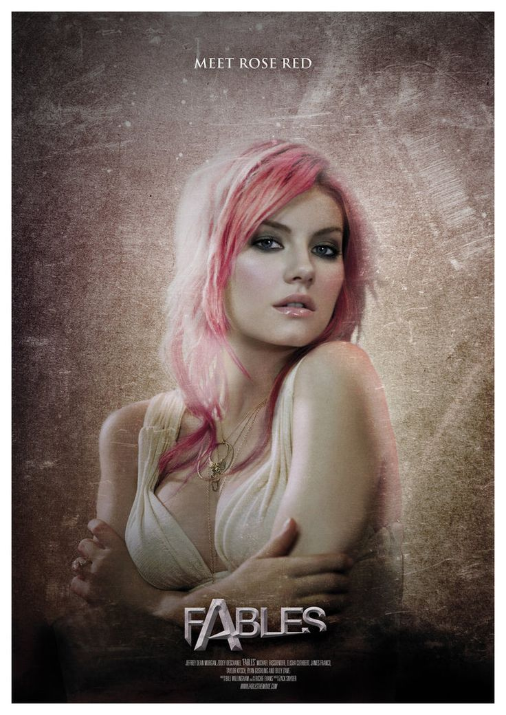 Fables - fake movie poster - Elisha Cuthbert as Rose Red - digitalrich.deviantart.com