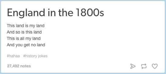 On English history.                                                                                                                                                                                 More