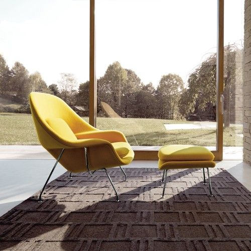 Designed by Eero Saarinen in 1948, the Saarinen Large Womb Chair is a lounge chair that you can curl up in. This chair has become one of Knolls most recongnizable designs, and is a leading mid-century modern classic. http://www.yliving.com/blog/nothing-beats-modern-classics/ #YinTheWild