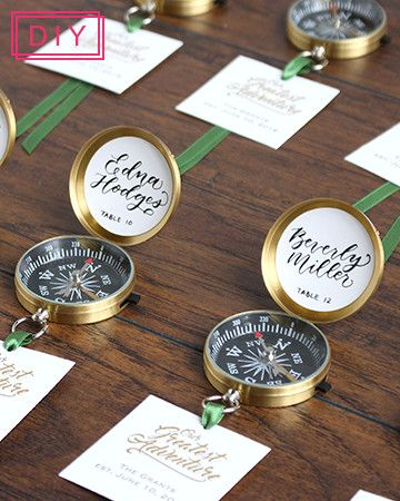 2017 Spring Wedding Lookbook | Our Greatest Adventure Wedding | DIY these simple and sweet escort cards for your travel inspired wedding!