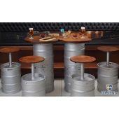 Beer Keg furniture: chairs, tables #bar #table #chair #pub # wood #beer #kegs…