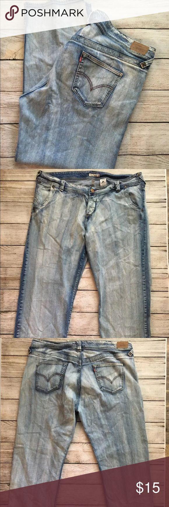 Levi's 513 Slouch Jeans 22 Boot Cut Stretch Levi's 513 Slouch Jeans 22 Boot Cut Low Button Fly Stretch Distressed Grunge Levi's Jeans Boot Cut