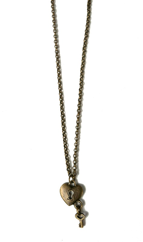 Vintage key to my heart necklace