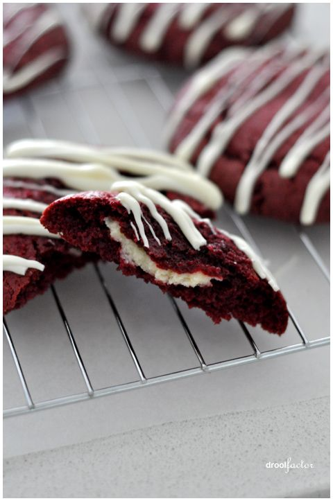Red Velvet Cheesecake Cookies | Stuff I like | Pinterest