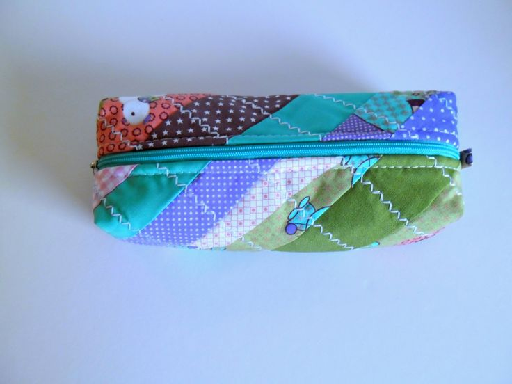 Pencil case, travel purse, case for scool by homeworkart on Etsy