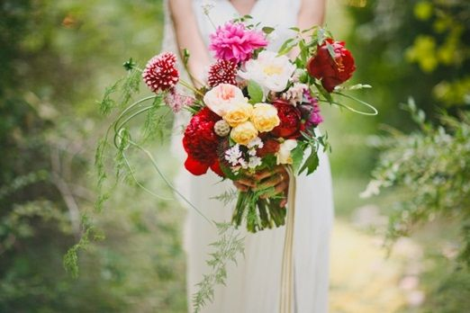 Wild and natural colourful bouquet