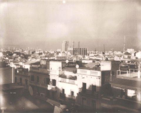 Poble Sec, morning light. Original polaroid.