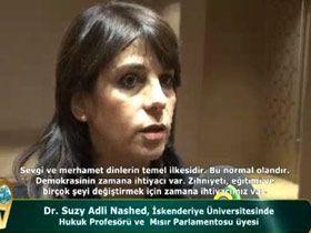 Dr. Suzy Adil Nashed, İskenderiye Üniversitesinde Hukuk Profesörü ve Mısır Parlamentosu üyesi Video