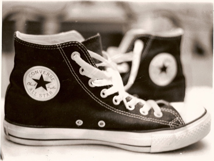 black and white photography - converse