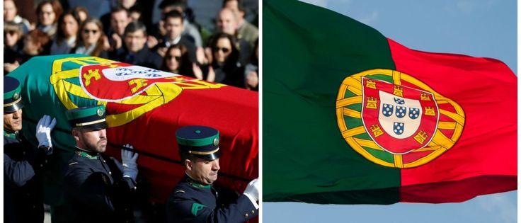 Noticias ao Minuto - Bandeira nacional que ontem cobriu urna de Mário Soares não era a oficial