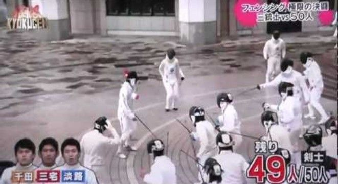 3 Olympic Fencers Vs. 50 Amateurs - Digg Simply Amazing