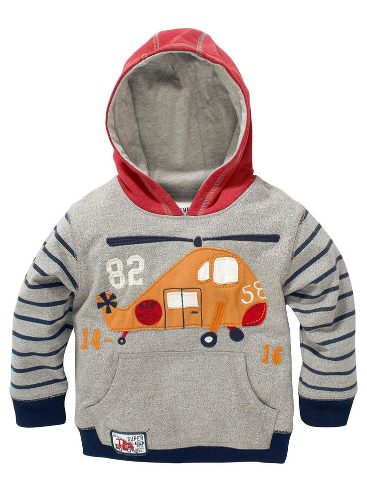 Baby Boy Hoodie Top Coat Sweatshirt Sportwear Clothing Sudaderas Plane 1-7 Years #HolidayEveryday