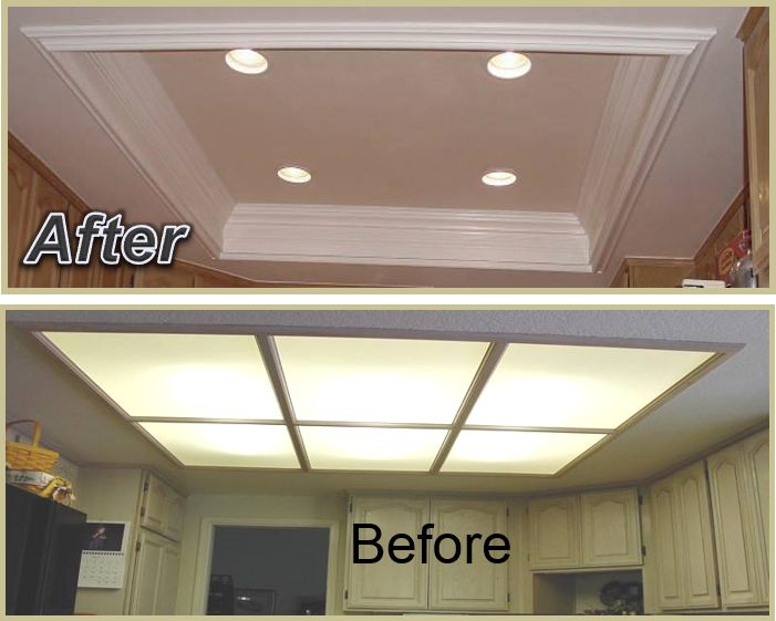 Kitchen Ceiling Lights Part - 42: Kitchen Coffered Ceiling Giving Your Kitchen A Much Larger Feel And Cleaner  Appearance. The Inside
