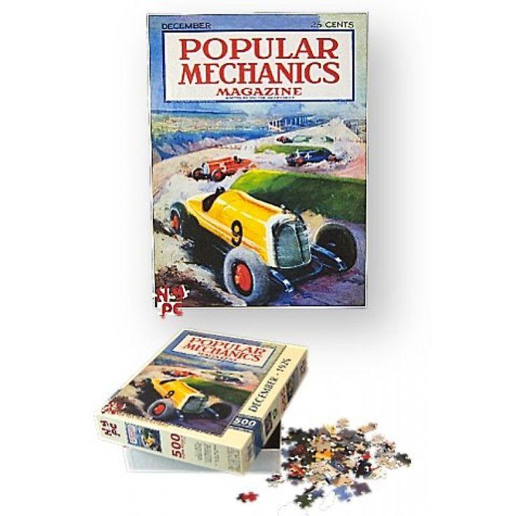 Race Car Puzzle : 1926 Popular Mechanics Magazine : The Chase : Jigsaw Puzzle