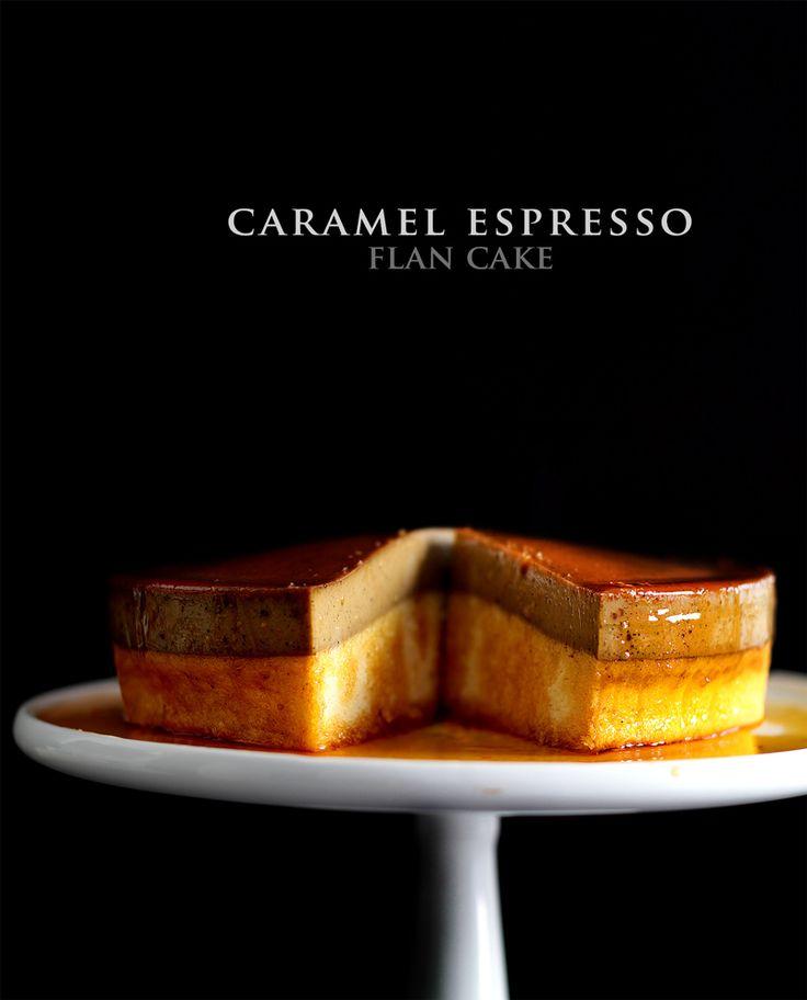 TARTA DE FLAN DE CAFE (caramel espesso flan cake)