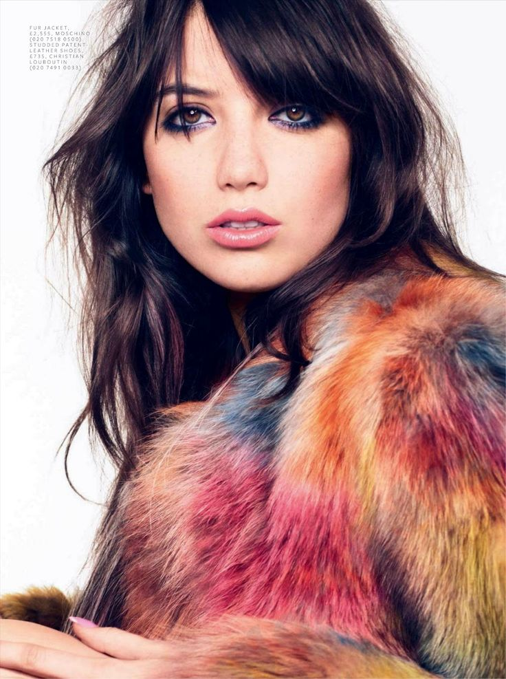 : Fur Coats, Instyle Uk, Dark Eye, Makeup, Celebrity Hair, Portraits Photography, Bangs, September 2012, Daisies Low Hair