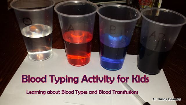 All Things Beautiful: Blood Typing Activity for Elementary and Middle School Aged Kids
